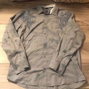 Men's Roar the buckle button down dress shirt XXL